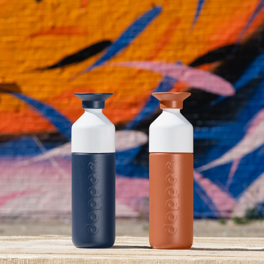Nieuw: Dopper Insulated Terracotta Tide en Breaker Blue