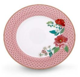 Pip Floral Dinerbord Roze 26,5 cm