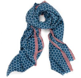 Pip Studio Sjaal Stip Blauw - 200 x 75 cm