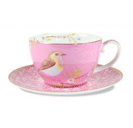 Pip servies Floral Kop en Schotel Early Bird Roze