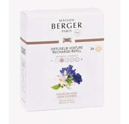Maison Berger Autoparfum Musk Flowers - 2 stuks