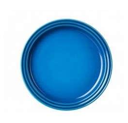le creuset blauw ontbijtbord 22 cm