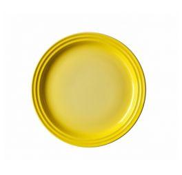 le creuset ontbijtbord 22 cm geel