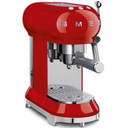 smeg espressomachine rood