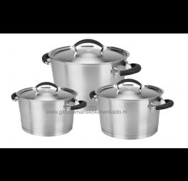 Habonne 3 delig starterset kookpannen