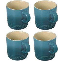 le-creuset-koffiekop-deep-teal-set-van-4