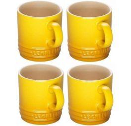 le-creuset-mokken-geel-4-stuks