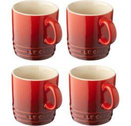 le-creuset-koffiekop-rood-4-stuks