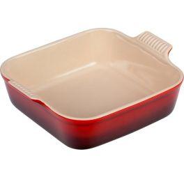 le creuset ovenschaal vierkant rood 23 cm