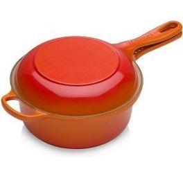 le-creuset-steelpan-2-in-1-oranje