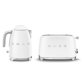 smeg duo ontbijtset mat wit